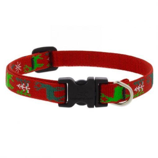 LUPINE NYAKÖRV (Happy Holidays - piros 1,25 cm széles 16-22 cm )
