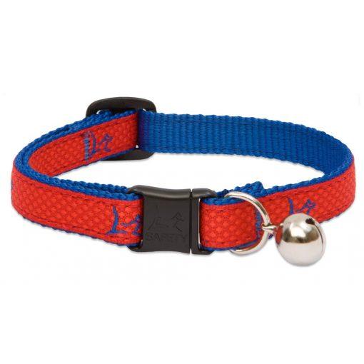 "Lupine macska nyakörv (CLUB 1/2"" Derby Red csengővel 21-30 cm )"