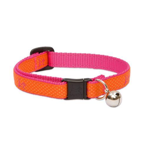"Lupine macska nyakörv (CLUB 1/2"" Sunset Orange csengővel 21-30 cm )"