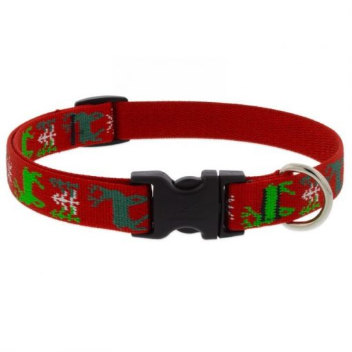 LUPINE nyakörv (Happy Holidays- Piros 1,9 cm széles 39-63 cm)