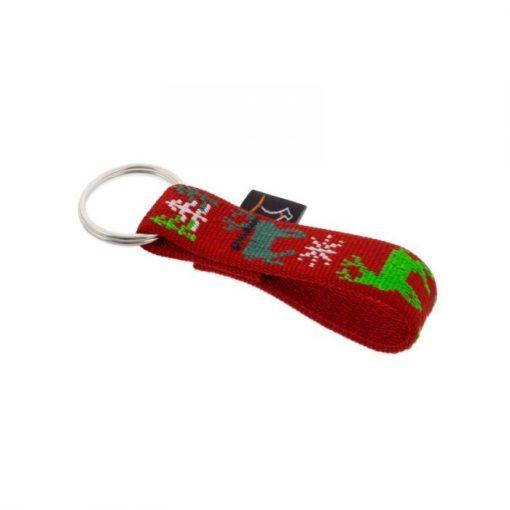 Lupine kulcstartó (Happy Holidays - piros 1,9 cm széles)