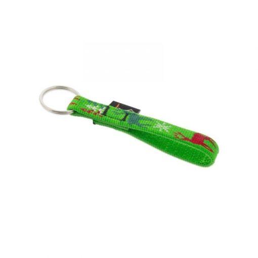 Lupine kulcstartó (Happy Holidays-zöld 1,25 cm széles)