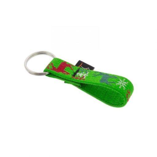 Lupine kulcstartó (Happy Holidays - zöld 1,9 cm széles)
