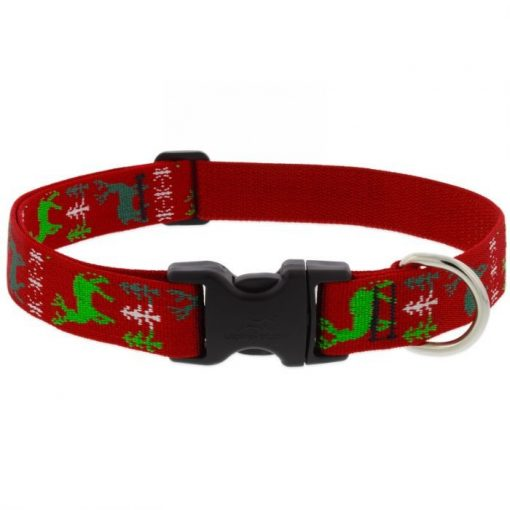 LUPINE nyakörv (Happy Holidays - piros 2,5 cm széles 41-71 cm)