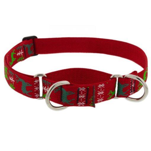 Lupine Félfojtó nyakörv (Happy Holidays - Piros 2,5 cm széles 49-68 cm)