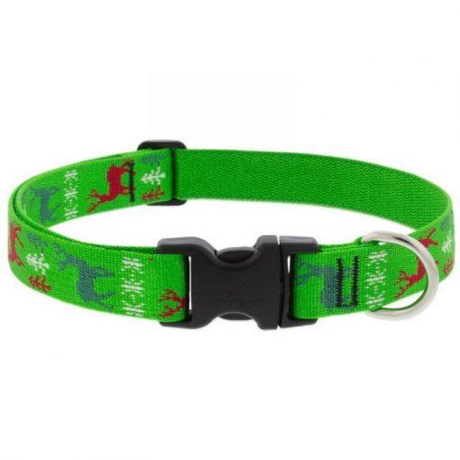 LUPINE nyakörv (Happy Holidays - zöld 2,5 cm széles 41-71 cm)